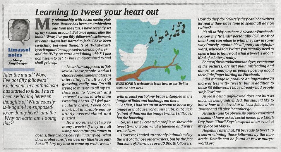 learn to tweet