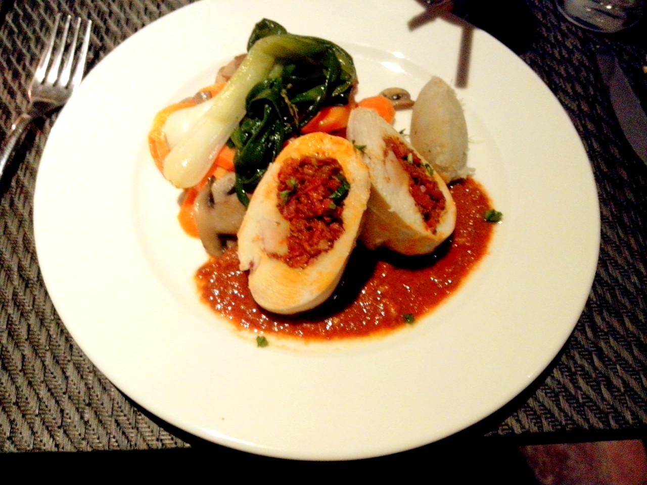 Chicken stuffed with Goan Chorizo