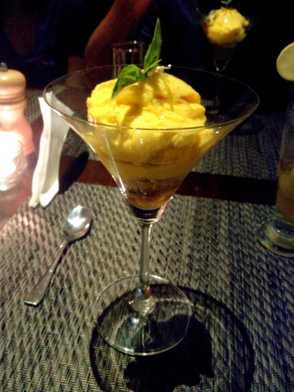 Deconstructed mango Cheesecake