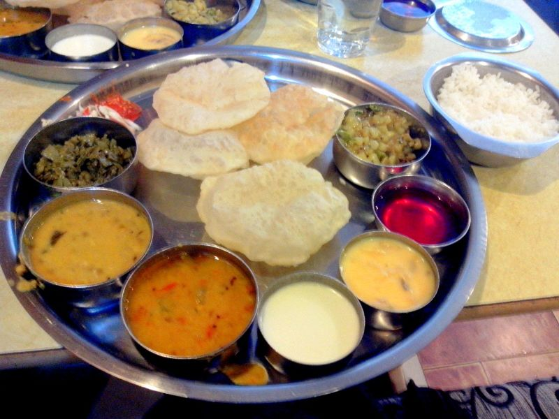 The legendary Tato's thali