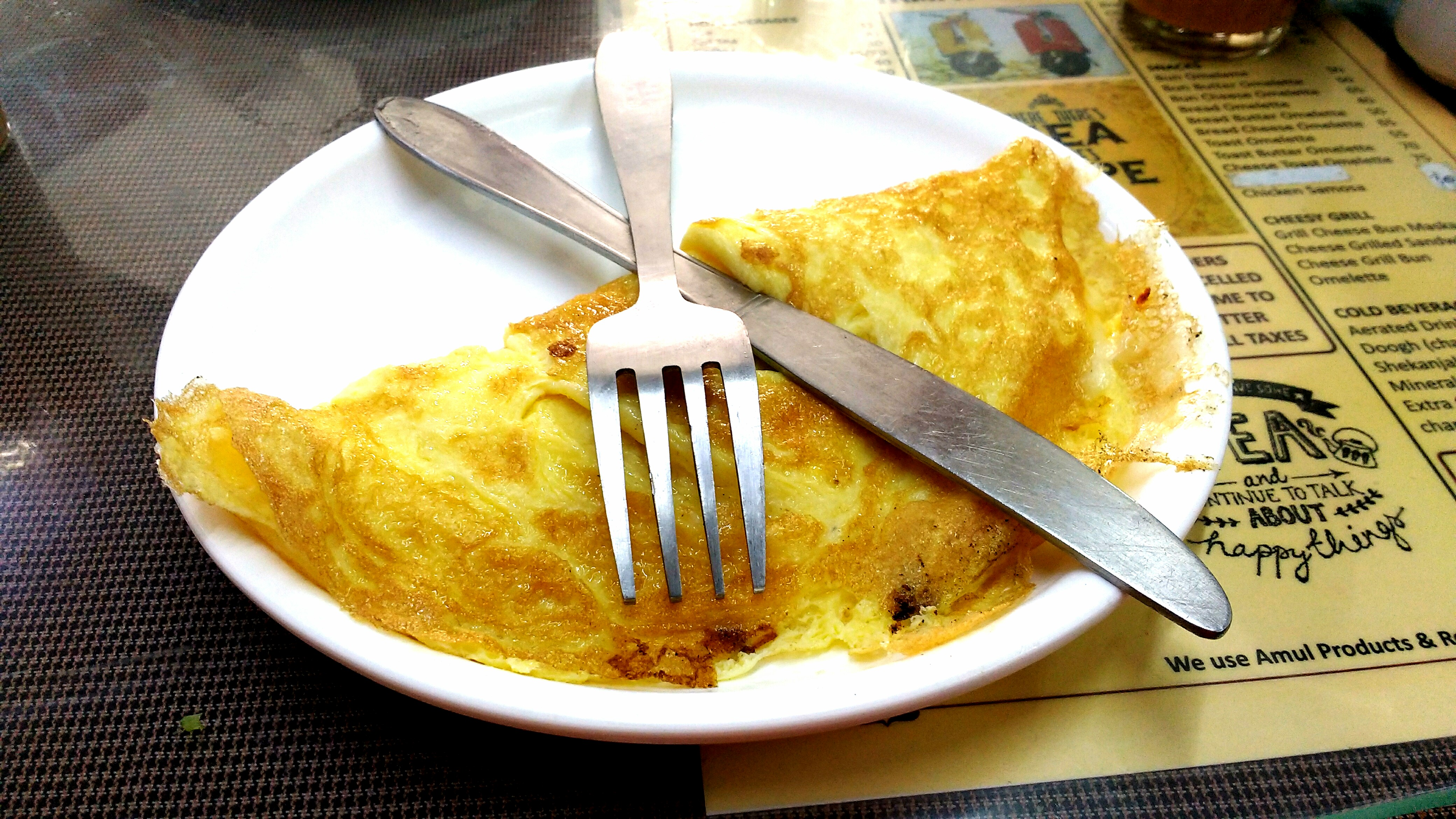 The gooey cheese omelette