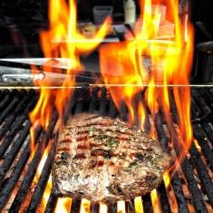steak flamin grill street food