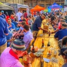 treet food cocktails Shoreditch East London food market stalls street food trucks dry street food truck empty van hire London uk vintage furniture hire  rent outdoor rustic tables chairs vintage outdoor seating