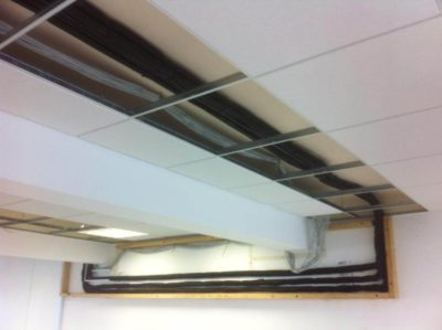 Air conditioning pipe work