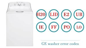 ge washer errors codes