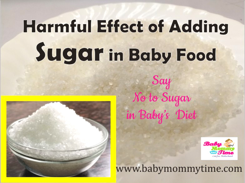 Harmful Effect of Adding Sugar in Baby Food