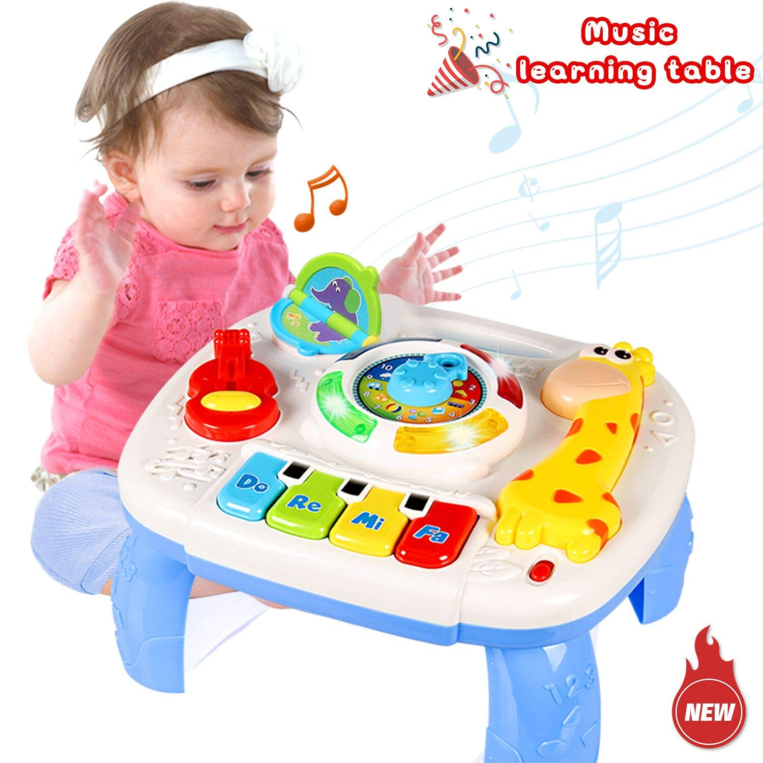 Play Learn Driver Baby Musical Toy Steering Wheel Sounds Toddler Early Learning