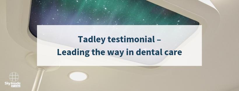 Lighting LED ceiling for Tadley Dental Care blog banner