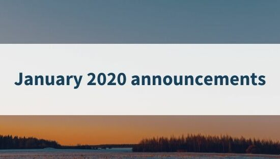January 2020 announcements (1)