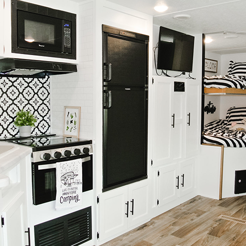 Making Renters Feel at Home in this Farmhouse Chic RV