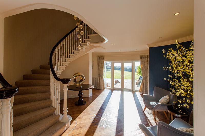 hallway ideas, parquet flooring, spiral staircase, interior design, interior designer Oxfordshire, home decor, interior stylist,