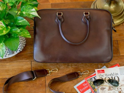 Mika Rouge Leather Bag