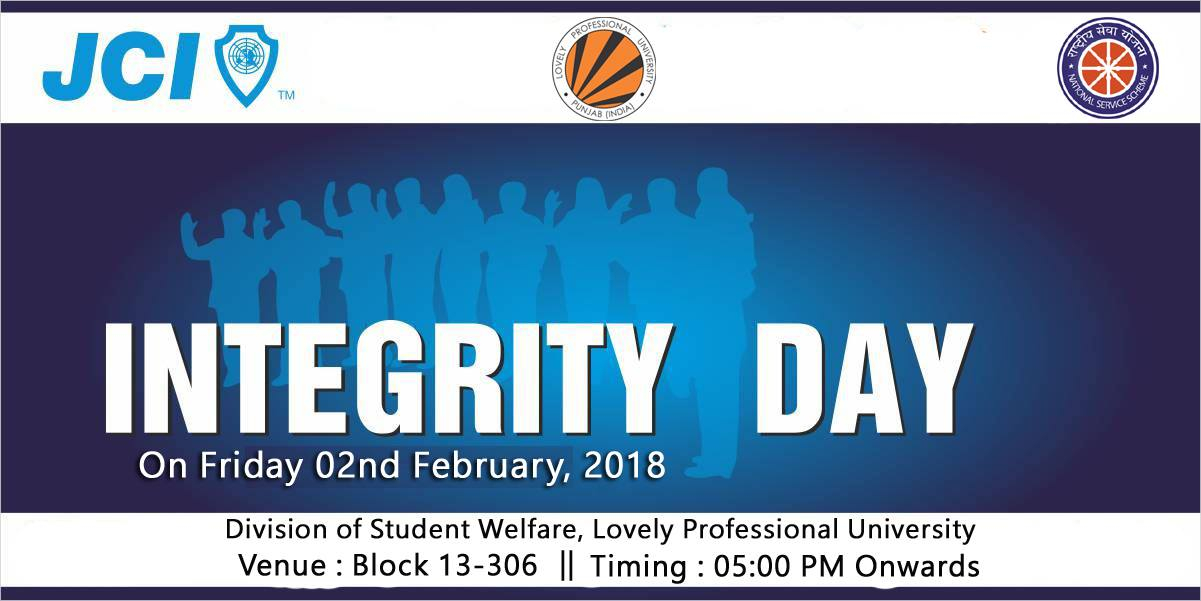 Join LPU–NSS for observing Integrity day