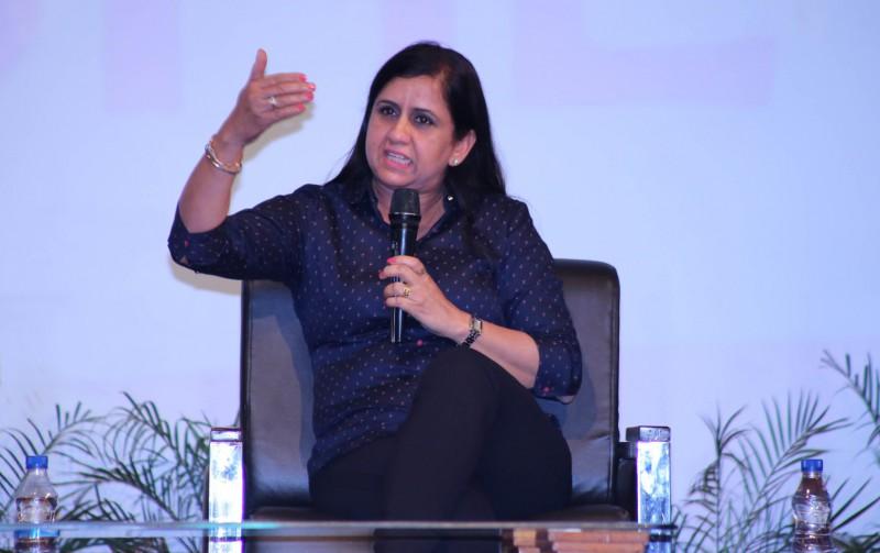 Visiting woman entrepreneur interacting at 'The Enterprising SHE'