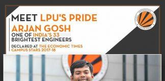 LPU's 3rd year Mechanical Engineering student among Economic Times Campus Stars 2017-18