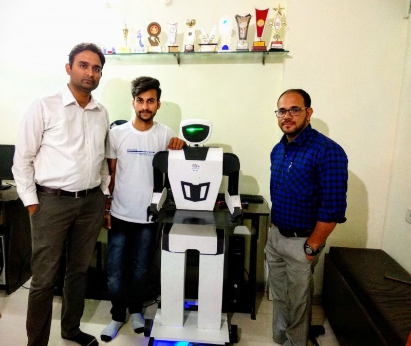 LPU Student Nehul Patel Builds a Low Cost Humanoid Robot