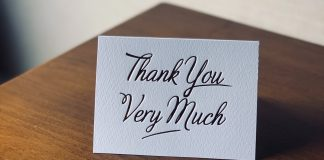 A Small Gesture Of Thanks