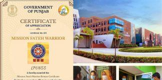 unjab-Government-appreciated-LPU-NSS-as-_Mission-Fateh-Warrior