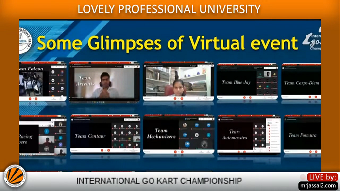 Closing ceremony of International Go-Kart Championship 2020