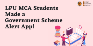 LPU MCA Students Made a Government Scheme Alert App!