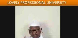 Veteran Social Activist Padma Bhushan Anna Hazare