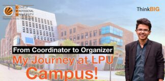 From Coordinator to Organizer My Journey at LPU Campus!
