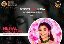 ENTICING TALK SHOW ILLUSTRIOUS MISS UNIVERSE MS. NEHAL CHUDASAMA