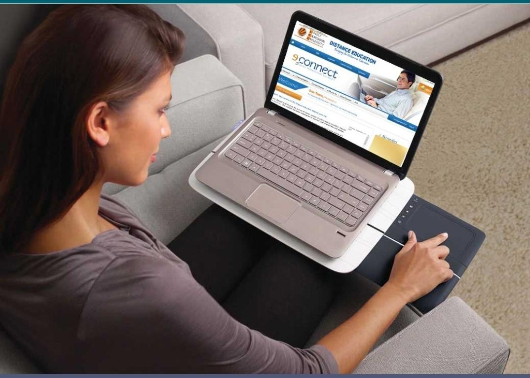 Student doing online study under LPU Distance Education program