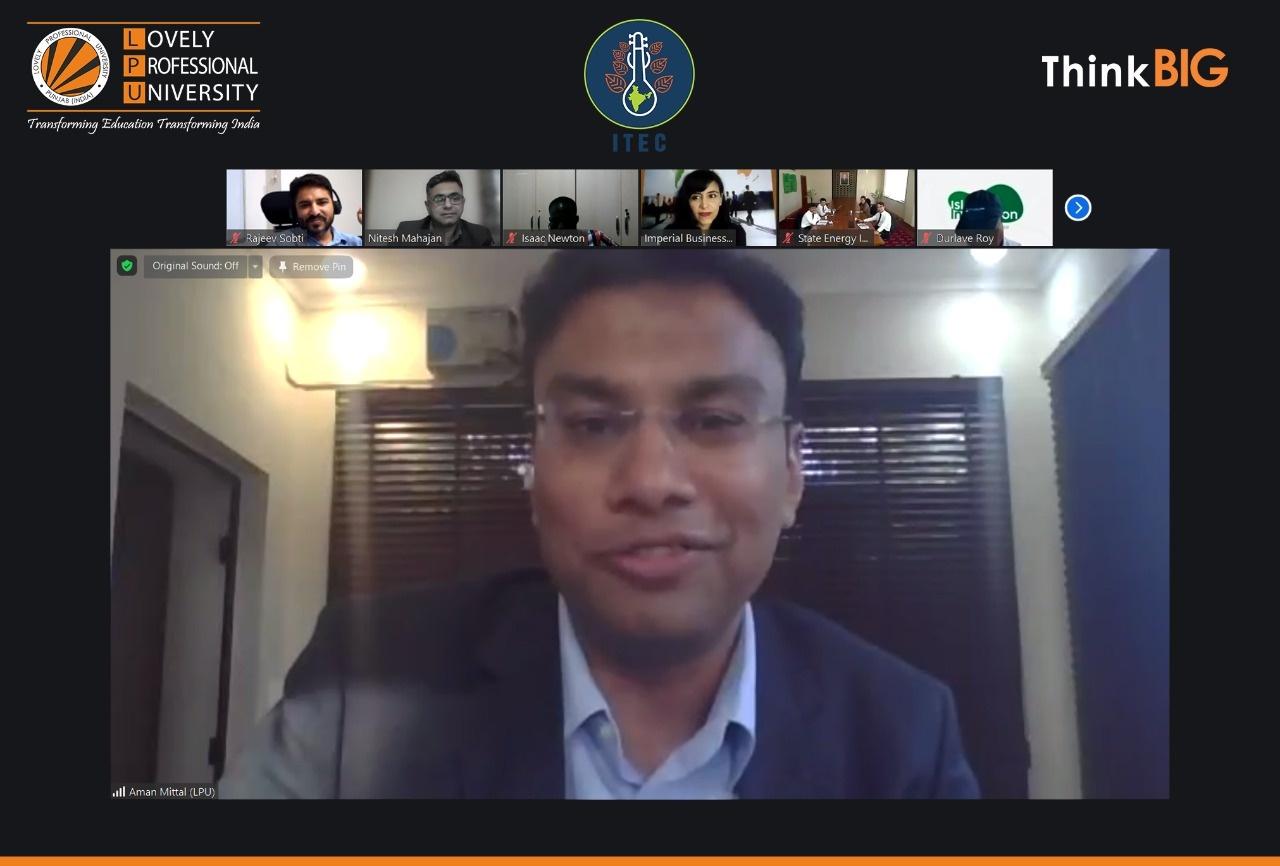 Director of ITEC Program & Additional Director LPU Aman Mittal,