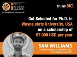 LPU Verto bags Scholarship worth 57,000 USD at Wayne State University, USA
