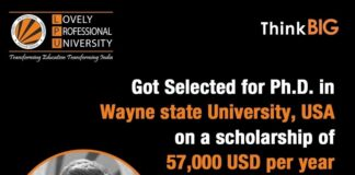 LPU Verto bags Scholarship worth 57,000 USD at Wayne State University, USA