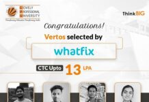 Four LPU Vertos selected by a leading software company, Whatfix