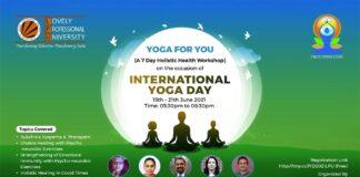 YOGA FOR YOU – A 7-day Free Holistic Health Workshop