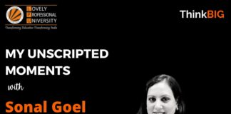 Illuminating Talks with 'IAS Sonal Goel' on 'My Unscripted Moments' by UNYC LPU