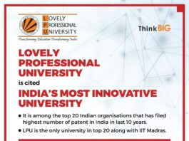 India's most innovative universities Lovely Professional University stands tall