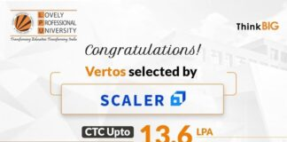 LPU Students selected by one of leading upskilling platforms, Scaler