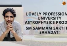 Lovely Profesional University astrophysics prodigy Sm Sammam Sakti Ibn Sahadat