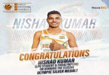 LPU Verto Nishad Kumar Wins Silver in Tokyo 2020 Paralympics Games