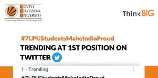 Netizen's flooding Twitter with a trend 7LPUStudentsMakeIndiaProud