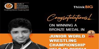 LPU Student Simran Clinches Bronze in Junior World Wrestling Championship