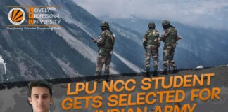 LPU's NCC student gets selected in indian Army