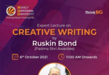 Expert lecture on Creative Writing by Ruskin Bond