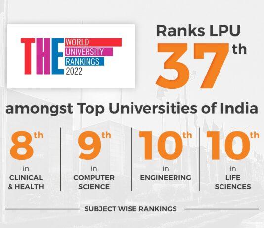 LPU ranking by The Times Higher Education World University Rankings