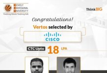 LPU's prodigy duo gets placed at Cisco