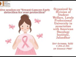 """Live session on """"Breast Cancer: Early detection for your protection"""
