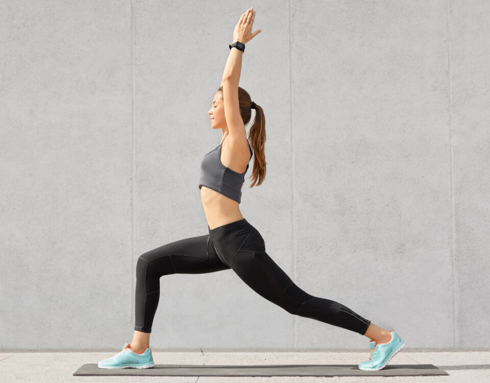 Best time to exercise, girl, yoga