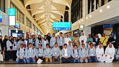 Photo of فريق هويتي في مطارات دبي يستقبل سفراء وطني الإمارات