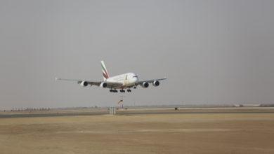 Photo of طائرة الإمارات الإيرباص A380 تهبط في الرياض احتفالاً باليوم الوطني السعودي الثامن والثمانين