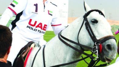 """Photo of ميثاء بنت محمد تقود فريق الامارات أمام الحبتورللبولو في ختام كأس """"هلوين """""""