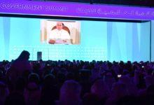 Photo of محمد بن راشد يشهد جلسة رسالة متلفزة من بابا الكنسية الكاثوليكية وجهها للقمة العالمية للحكومات